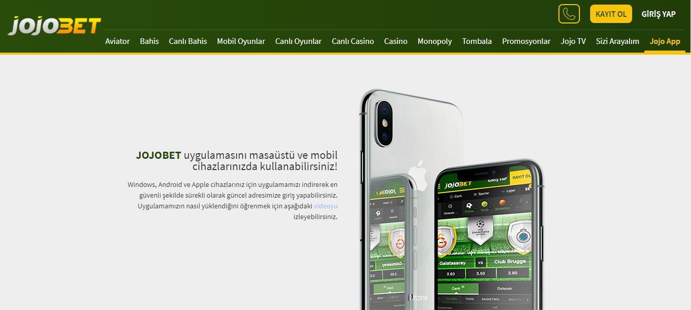 jojobet mobil uygulaması Türkiye